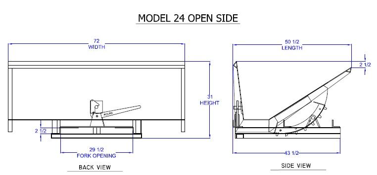 Archive 187 Open Sided Hopper Detail Indoff Forklift